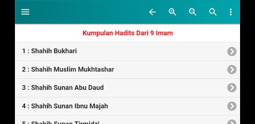 ایپس Kumpulan Hadits Dari 9 Imam dan Extra Buku Hadits Android کے لئے screenshot