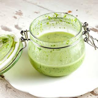 Green Tahini Salad Dressing.