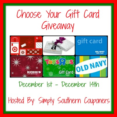 Sign up for the Choose Your Gift Card Blogger Opp. Starts Dec 1.