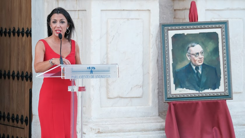 Marta Bosquet, ayer domingo en el homenaje a Blas Infante.