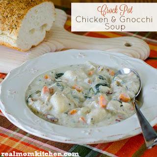 Crock Pot Chicken and Gnocchi Soup.