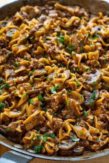 One-pan Beef Stroganoff