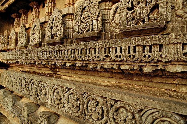 The minute details of the pedastal base of Chennakesava temple, all carved out of soapstone