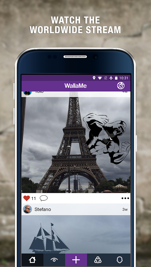 WallaMe - Augmented Reality- screenshot