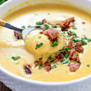 Creamy Beer Cheese Gnocchi Soup.