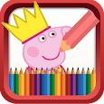 Coloring Book for Pinky Pig icon