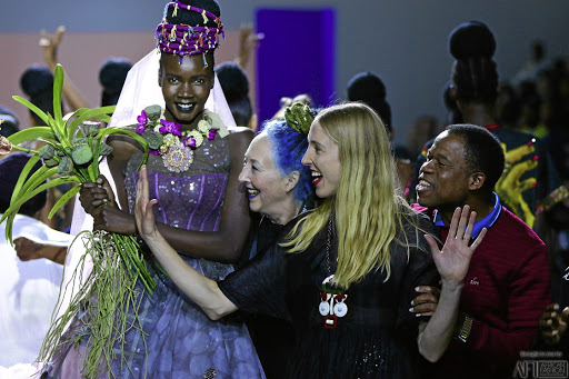 The Marianne Fassler team at the finale of Fashion Week Joburg.