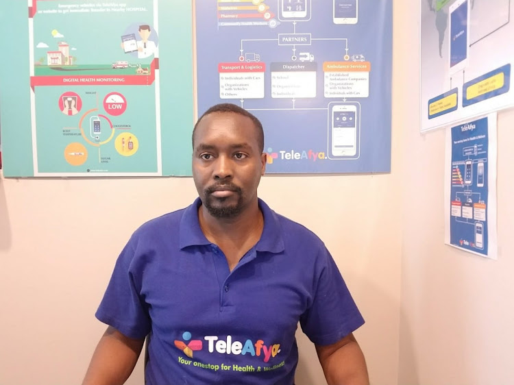 Vincent Chepkwony co-founded the TeleAfys health app in 2017