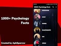 screenshot of 1000+ Psychology Facts - Brain, Music, Love, etc.