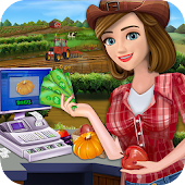 Little Farm Store Cash Register Girl Cashier Games