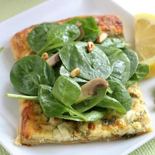 Lemony Spinach Salad on Feta Dill Galettes