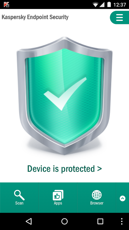 Kaspersky Endpoint Security- screenshot