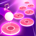 Pink Tiles Hop 3D - Dancing Music Game icon
