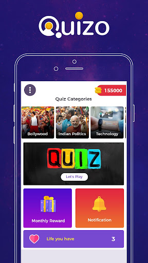 Quizo - Live Trivia Quiz Game & Win Money Online  captures d'écran 1