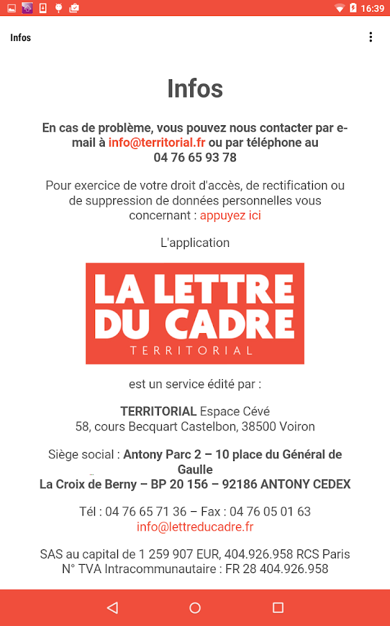 la lettre du cadre android apps on play
