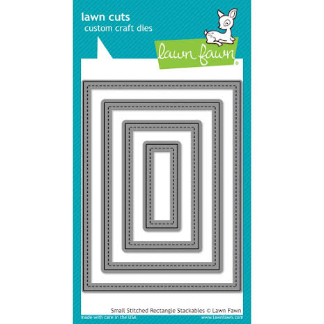 Lawn Fawn Custom Craft Die - Small Stitched Rectangle