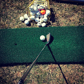 practicing by Scott Murphy - Sports & Fitness Golf ( golf )
