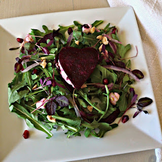 Beet Heart Salad with Maple Mustard Vinaigrette