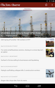 News & Observer (N&O): Mobile- screenshot thumbnail