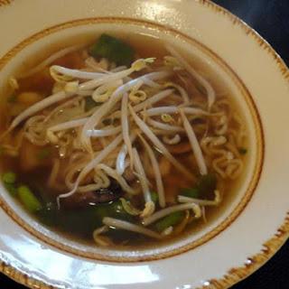 Shrimp Chinese Style Noodle Soup.