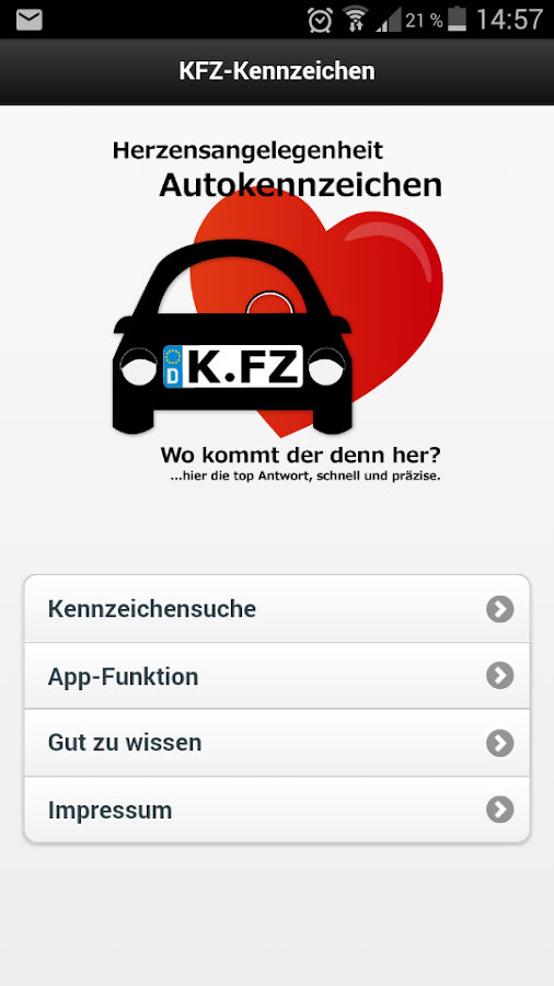 821 kfz kennzeichen android apps on google play. Black Bedroom Furniture Sets. Home Design Ideas