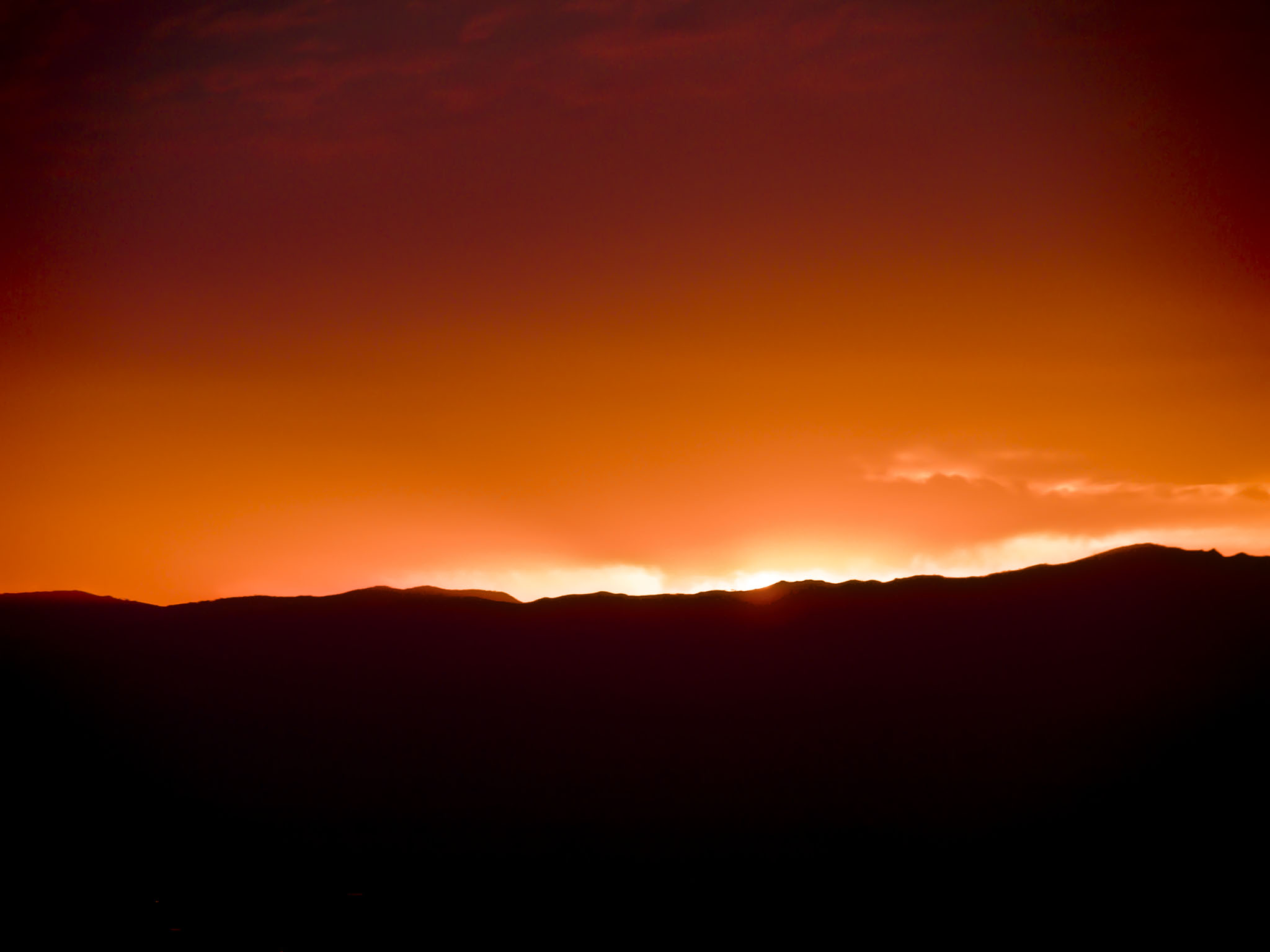 Photo: Sunset over the California Coastal Range from the Sutter Buttes - September 2007