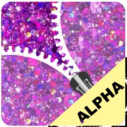 Purple Glitter Zip Locker Alpha free ziplock theme