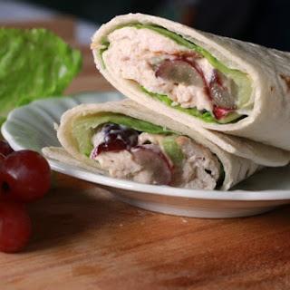 BBQ Chicken Salad Wraps.