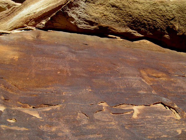 More faint petroglyphs