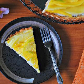 Coconut Rice + Mango Tart