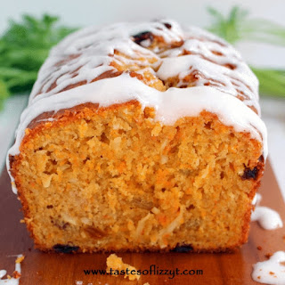 Glazed Carrot and Coconut Bread