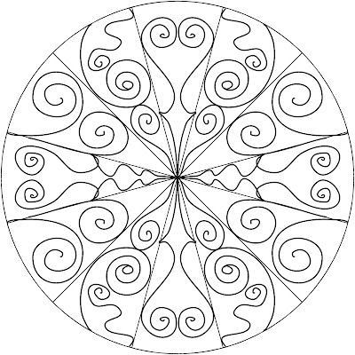 7 different Mandala Templates to color or tangle or print
