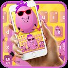 Cute Funny Egg Cartoon Keyboard Theme icon