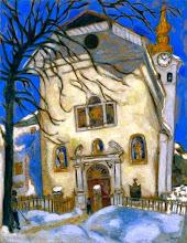 """Photo: Marc Chagall, """"Chiesa coperta dalla neve"""" (1927)"""