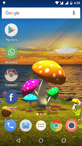 3D Mushroom-Sun Live Wallpaper