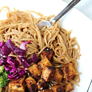 Peanut Butter Tofu Bowls with Soba Noodles