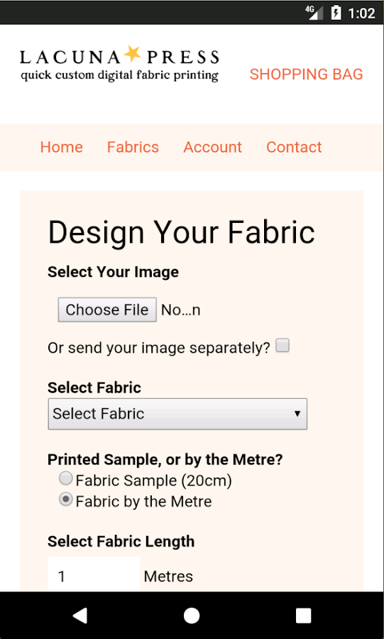LACUNA PRESS fabric printing- screenshot