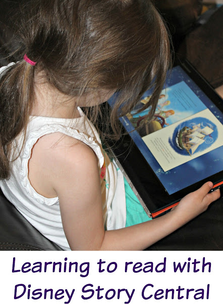 Learning to read with Disney Story Central digital books