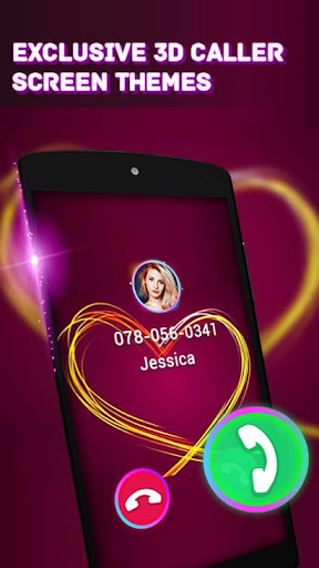 3d color phone: cool themes for call & home screen screenshot 2