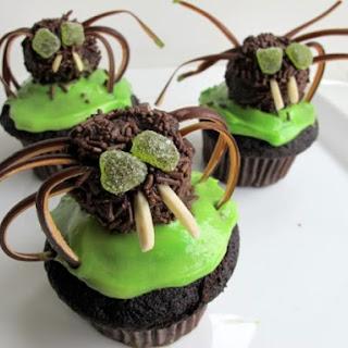 Chili-Chocolate Spider Cupcakes.
