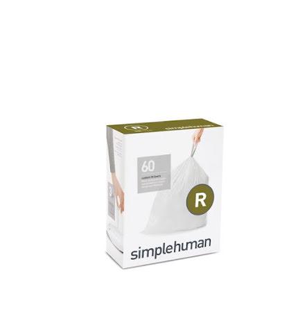 Avfallspåsar till Simplehuman 3 x pack med 20 påsar(60-påsar)  TYP R