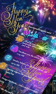(FREE) GO SMS HAPPY NEW YEAR THEME - náhled