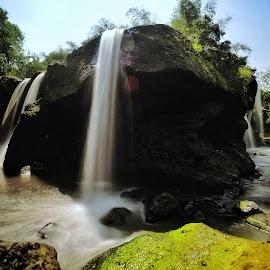 Grojogan limo waterfall by Wahid Hasyim - Landscapes Waterscapes ( landscape photography, waterfalls, waterscape, waterfall, landscape,  )