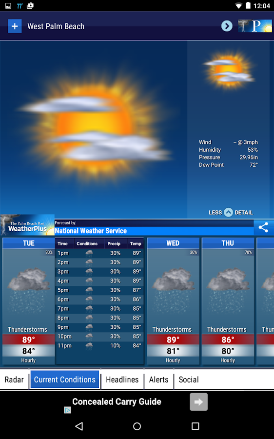 Palm Beach Post Weather- screenshot