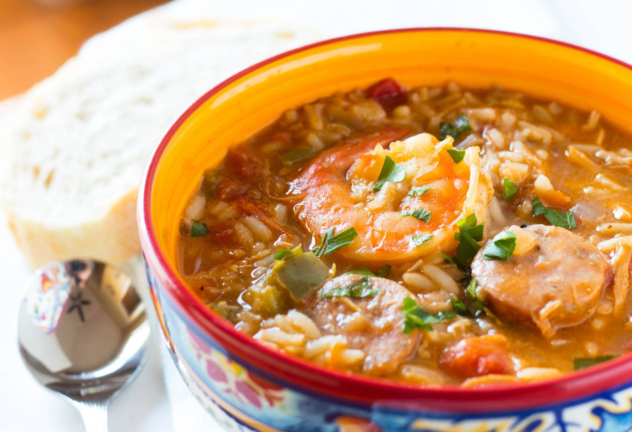 One Pot Chicken and Shrimp Gumbo