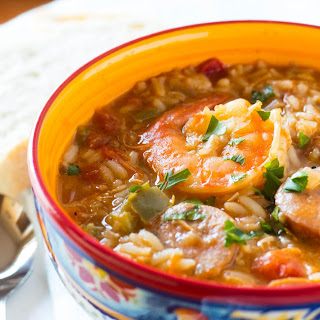 One Pot Chicken and Shrimp Gumbo.