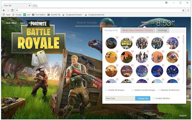 fortnite battle royale hd wallpapers new tab