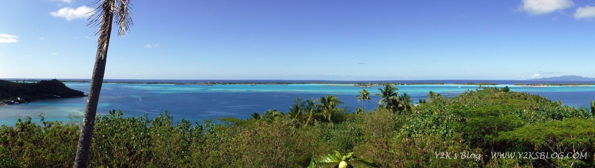 Panoramica di parte della laguna di Bora Bora