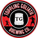 Logo of Toppling Goliath Fire, Skulls & Money