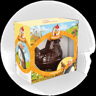 Chocolat Poule dans un panier Figurines régulières